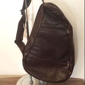 Vintage Bag Sling Crossbody Leather Unisex